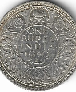 1 Rupees 1940 George Vi Silver Coin Rare British Indian Coin #2 100% Genuine Coin Memory of British India Coins and George Vi Lowest Price  Must Collect this Coin Watch on 360° Video. Same Coin Given