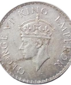 1 Rupee 1938 George Vi King Emperor Rare British India Coin - Trending Best Investment Option Highly Demanded Coin Very Low Mintage Rare Full Silver Coin of George Vi