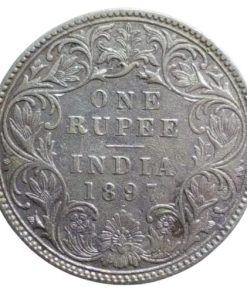 1897 One Rupees Queen Victoria at Lowest Price - Same Coin Given Rare date