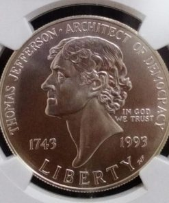 America one Dollar Thomas Jefferson Silver coins With ngc Grad High grade 69