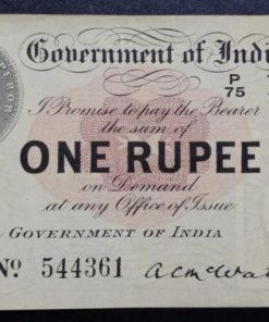 Indian Rare One Rupees First Note British India Note 1917 Date...High Condition Sane Given