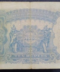 India Ten Rupees British India J. B. Taylor Governor