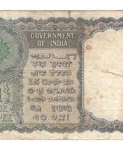 One Rupee Old Issue 1950 Signature K.G AMBEGAONKAR FLORAL DESIGN Note***VERY RARE*** Same as Per Shown Note Given