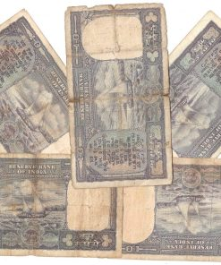 10 Rupee Fafda Issue Black Boat 5 Notes Collection **Singed By PC Bhattacharya** Same as Per Shown - Lowest Price Deal ❤ #2