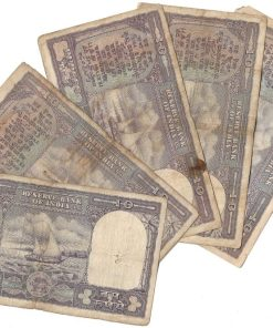10 Rupee Fafda Issue Black Boat 5 Notes Collection **Singed By PC Bhattacharya** Same as Per Shown - Lowest Price Deal ❤ #4