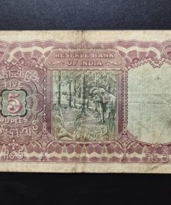 Rare Five Rupees Note of King George VI of signed by J B Taylor of Burma Issue