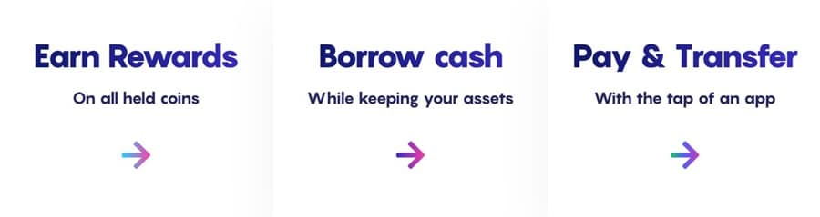 Earn Borrow Transfer