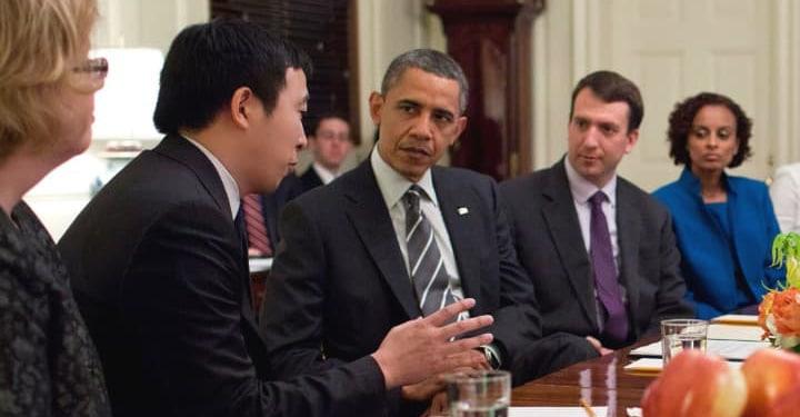 Andrew Yang Obama