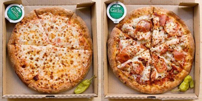 Two Papa Johns Pizzas