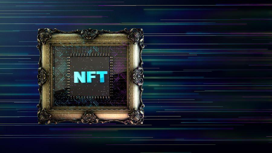 NFT in frame