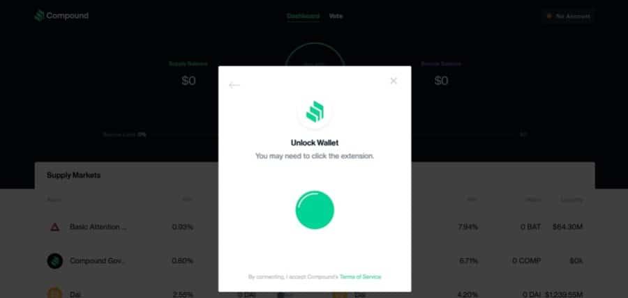 Unlock Wallet COMP