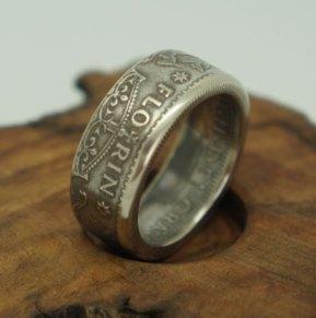1953-1963-Australian-Florin-silver-coin-ring-thumb