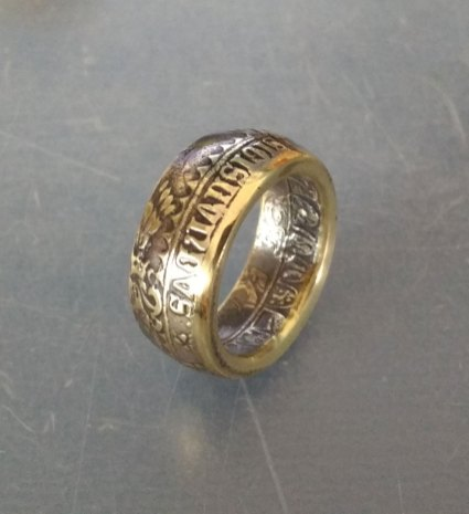 Medieval-coin-ring-sigmund-1486-3