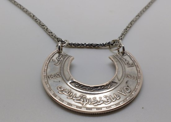 Egypt-silver-pound-coin-neckles-6