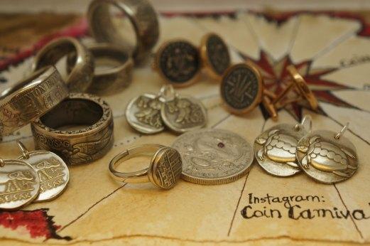 Aegina Sea Turtles coin earring