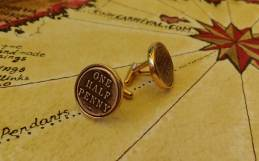 Hand made cufflinks from real Australian copper half penny