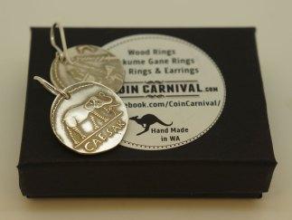 Roman Cesar elephant coin earrings by coin carnival