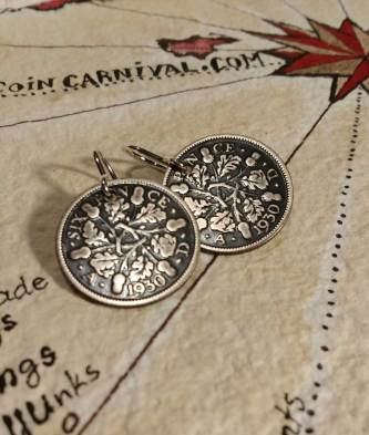 1930-UK-silver-3-pence-coin-earrings-2