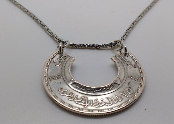 Egypt-silver-pound-coin-neckles-6