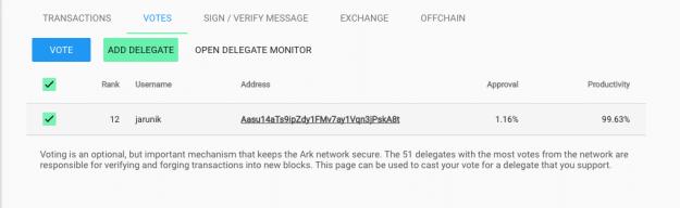ARK Delegate List