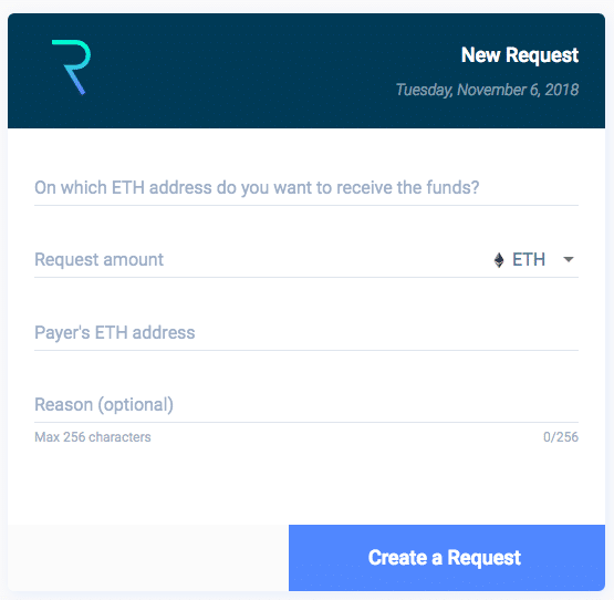 Request Network App Interface
