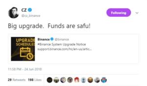 funds are safu tweet