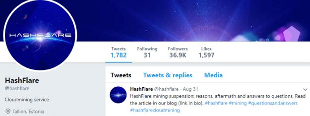 Hashflare via Twiiter