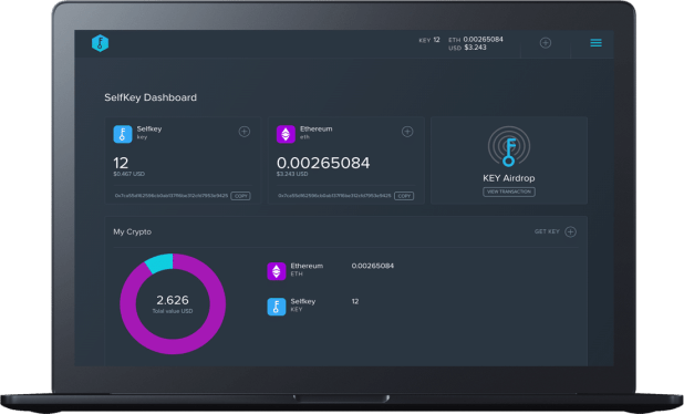 The SelfKey wallet in action
