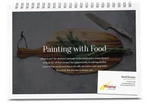 Painting with food booklet & card