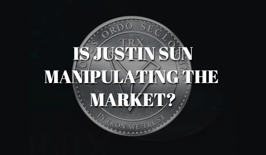 blockchain whispers claims justin sun is manipulating the tron market