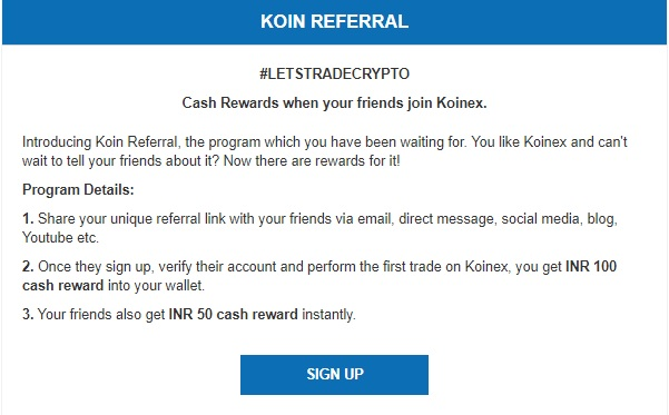 koinex says bye to their referral program