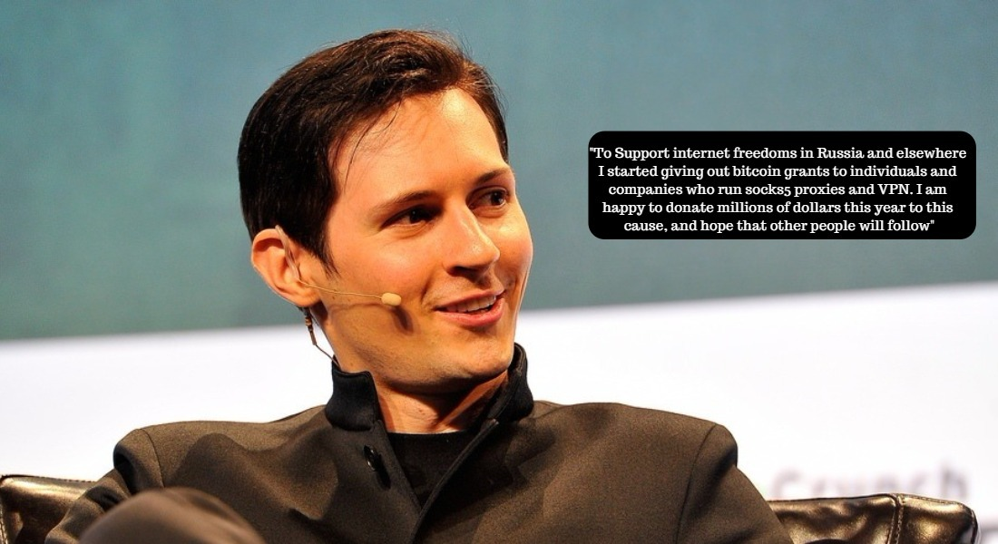 telegram pavel durov wants to donate millions to people who work in proxies and vpn