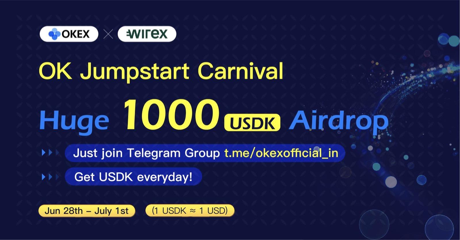 okex wirex airdrop