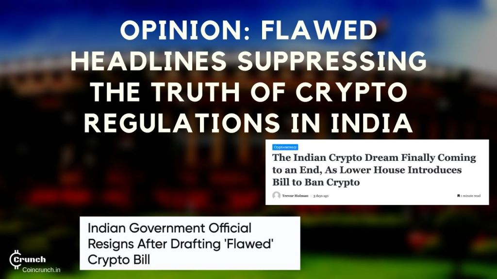Bad headlines causing suppression of truth in India about crypto