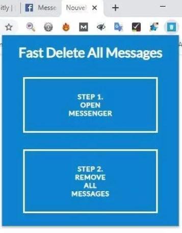 supprimer rapidement conversation messenger