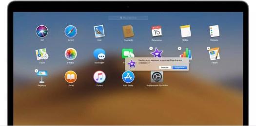 comment désinstaller une application su mac