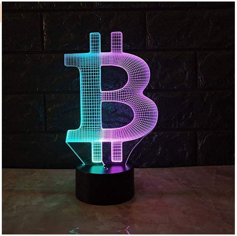 Bitcoin 3D Visuelles Nachtlicht