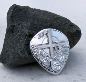Cross 999% Fine Silver2 Coin Guitar Pick, Coin Guitar Picks