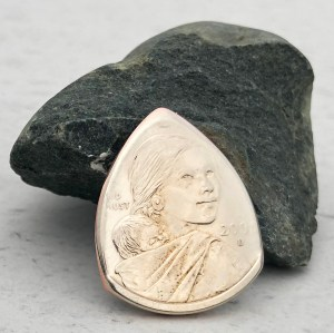 US Sacagawea Dollar (Random Year) Coin Guitar Pick, Coin Guitar Picks