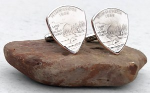 US State Quarter Cufflinks-You Choose the State 1 Coin Guitar Pick, Coin Guitar Picks