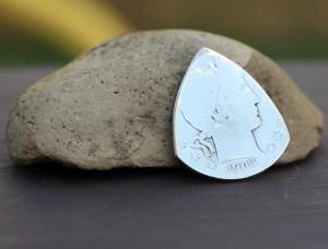1903 US Barber Half Dollar 90% Silver Coin Guitar Pick, Coin Guitar Picks