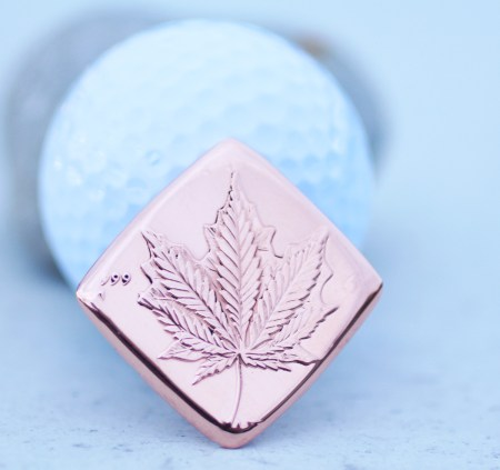 Cannabis 999 Solid Copper Golf Ball Marker Coin Guitar Pick, Coin Guitar Picks