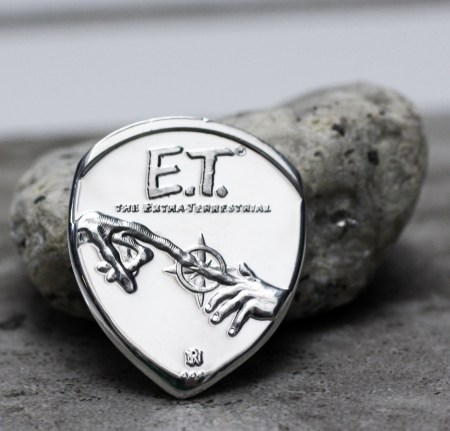 1982 ET Half Ounce 999 silver Coin Guitar Pick, Coin Guitar Picks