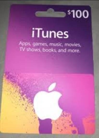 $100 iTunes card