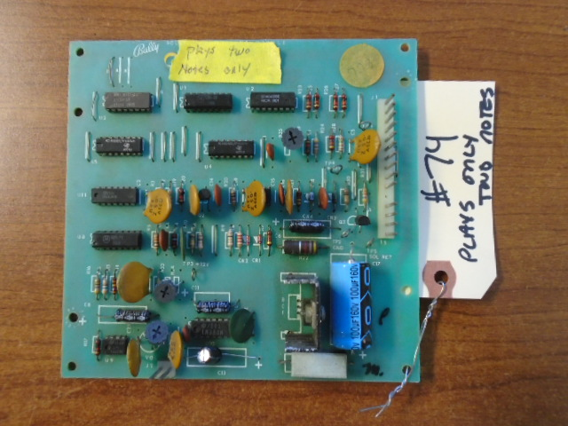 SYSTEM 1 Pinball Machine Game PCB Printed Circuit Sound