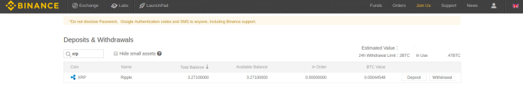 Verifying Funds on Binance