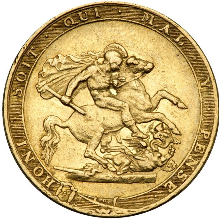 Saint George and the dragon. A classically inspired composition?