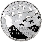 2012 Star-Spangled Banner Silver Commemorative Reverse depicts a waving modern American flag. Designed by William C. Burgard III and engraved by Don Everhart.