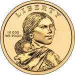 Obverse of the 2009-present Native American Dollar