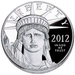 Obverse of the 2012 American Eagle Platinum Proof